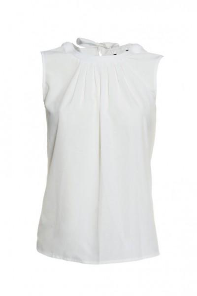 Weiße Bluse ohne Arm