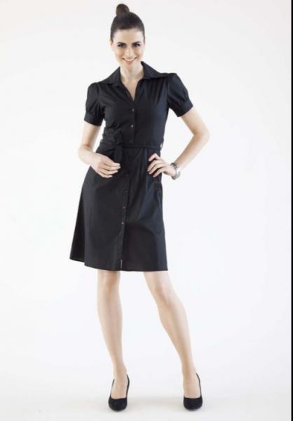 Hemdblusenkleid (schwarz)