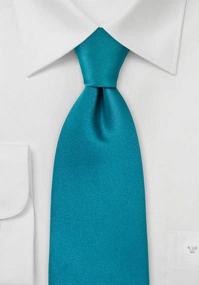 Krawatte türkis in seidigem Glanz